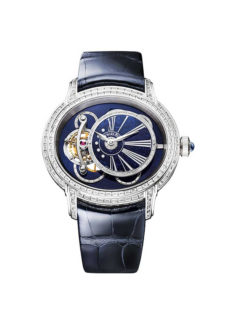 Audemars Piguet Millenary Tourbillon Ladies 45mm Manual in White Gold - Diamond Bezel