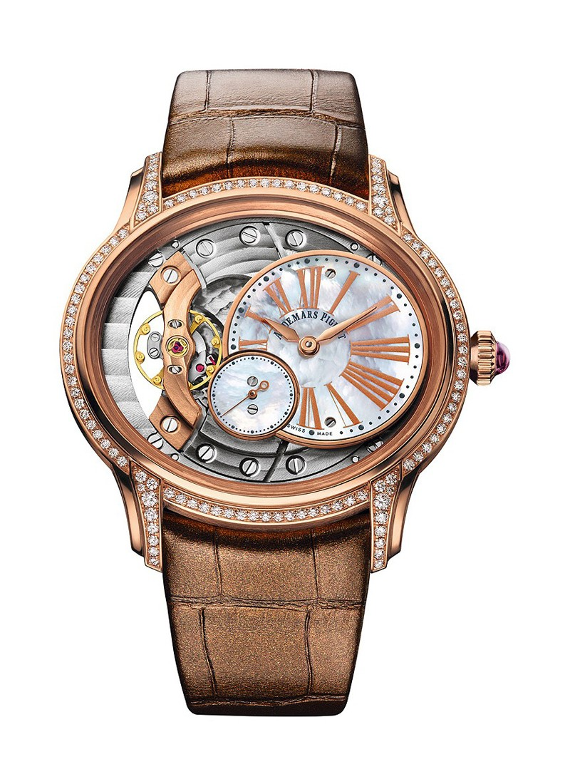 Audemars Piguet Millenary Ladies Hand Wound in Rose Gold with Diamond Bezel