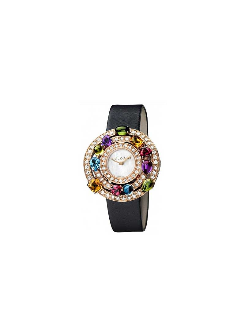 Bvlgari Astrale Quartz Ladies 36mm in Rose Gold with Gemstones and Diamonds