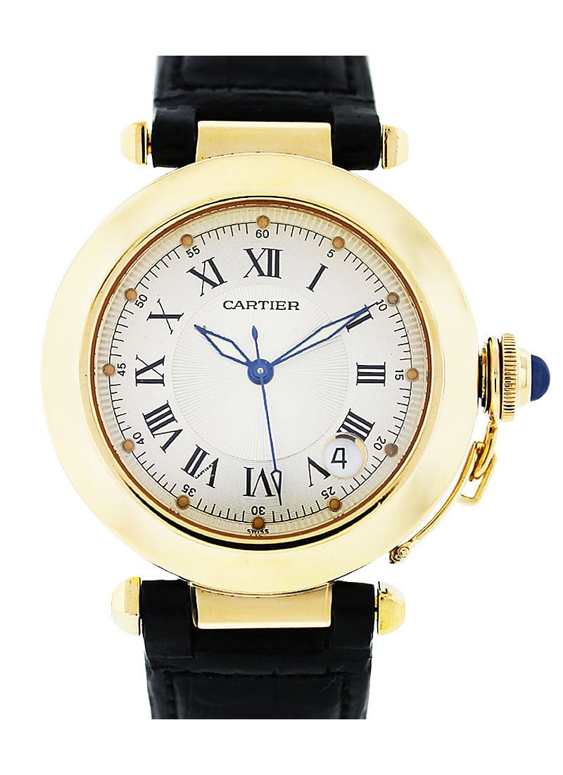 Cartier Pasha Mens 38mm Automatic in Yellow Gold