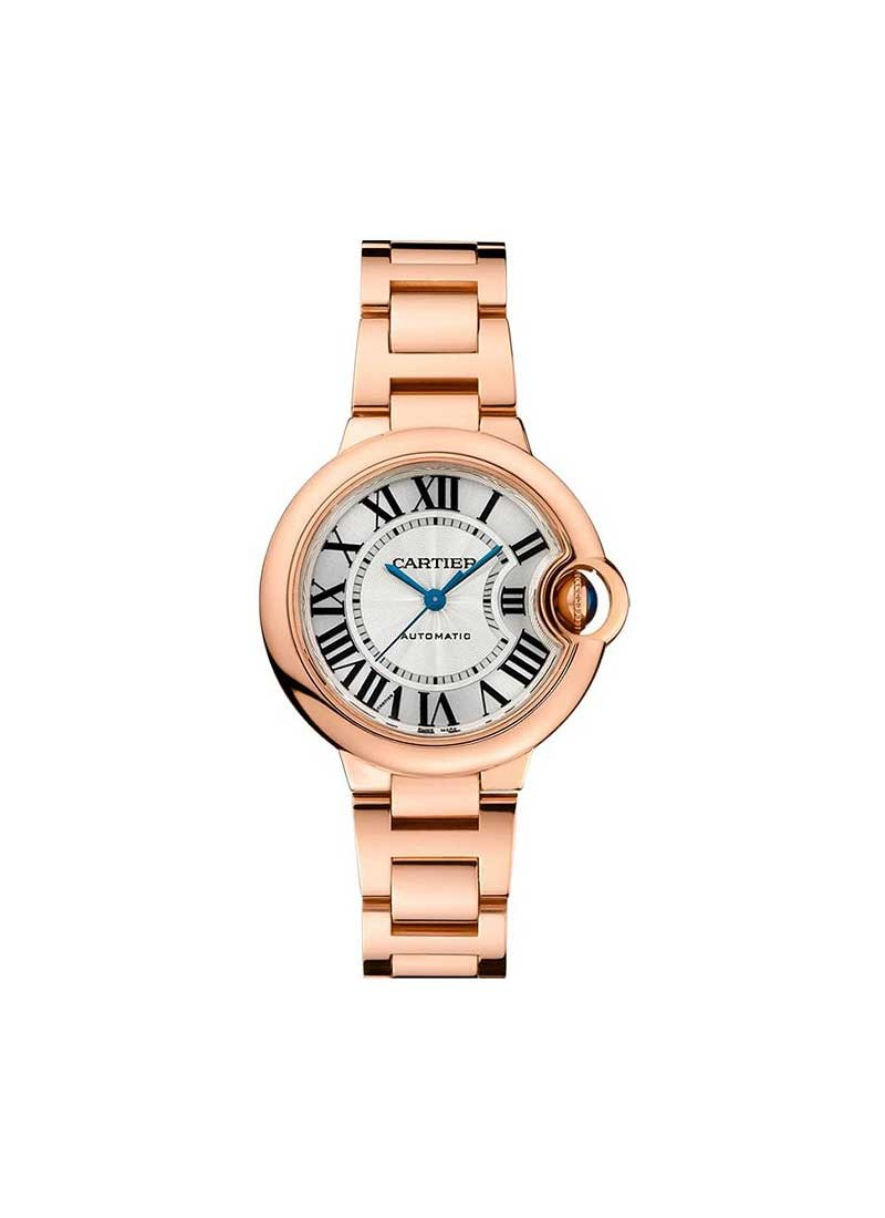 Cartier Ballon Bleu Ladies 33mm Automatic in Rose Gold