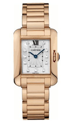 Cartier Tank Anglaise Ladies Small Quartz in Rose Gold