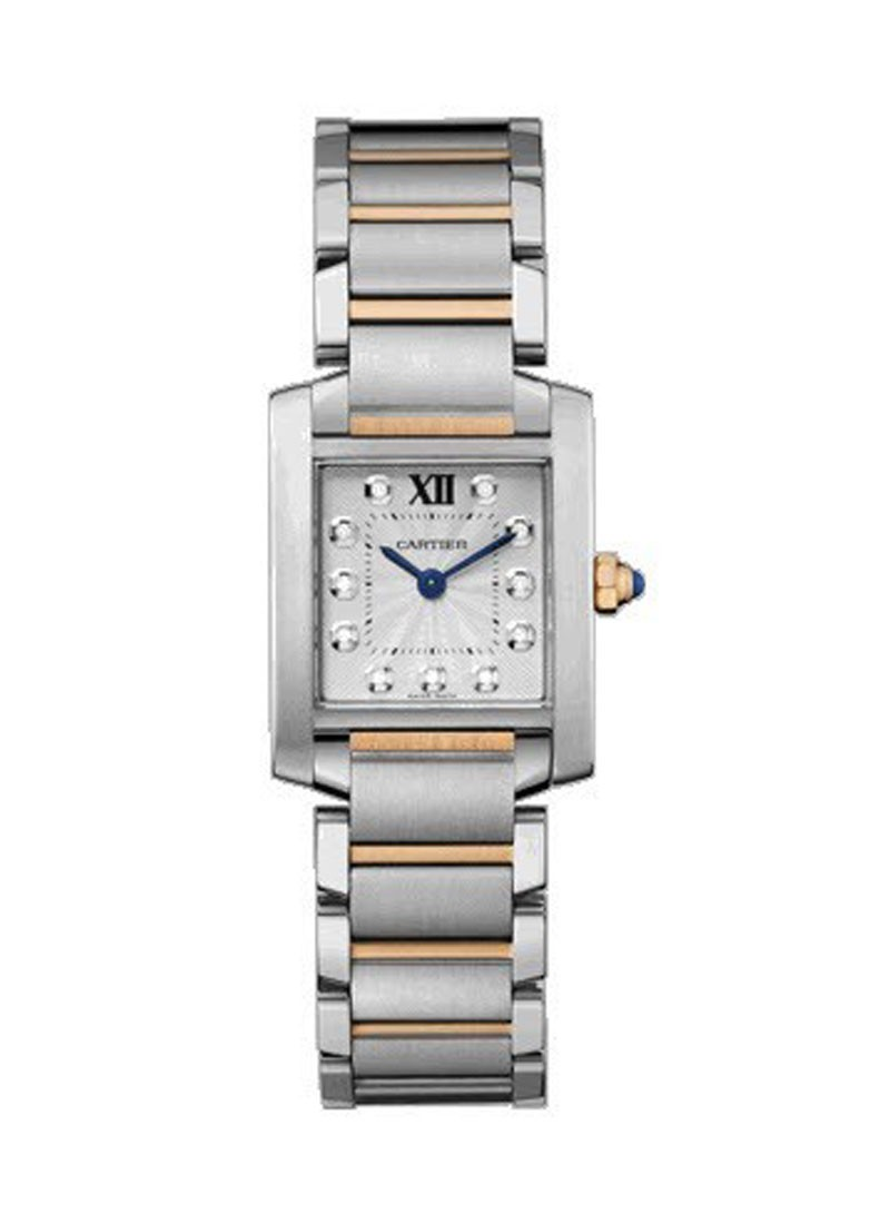 Cartier Tank Francaise Quartz in Steel and Rose Gold