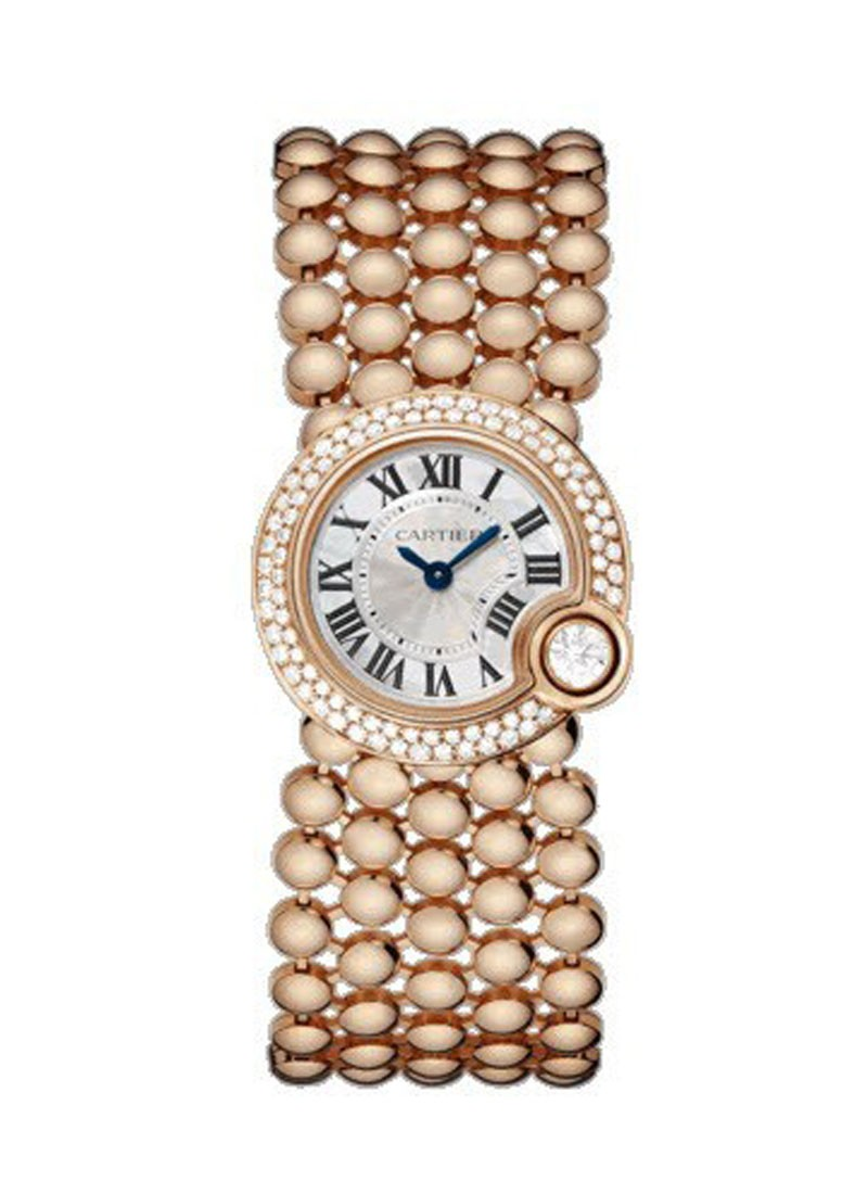 Cartier Ballon Blanc de Cartier 34mm Rose Gold with Diamond Bracelet