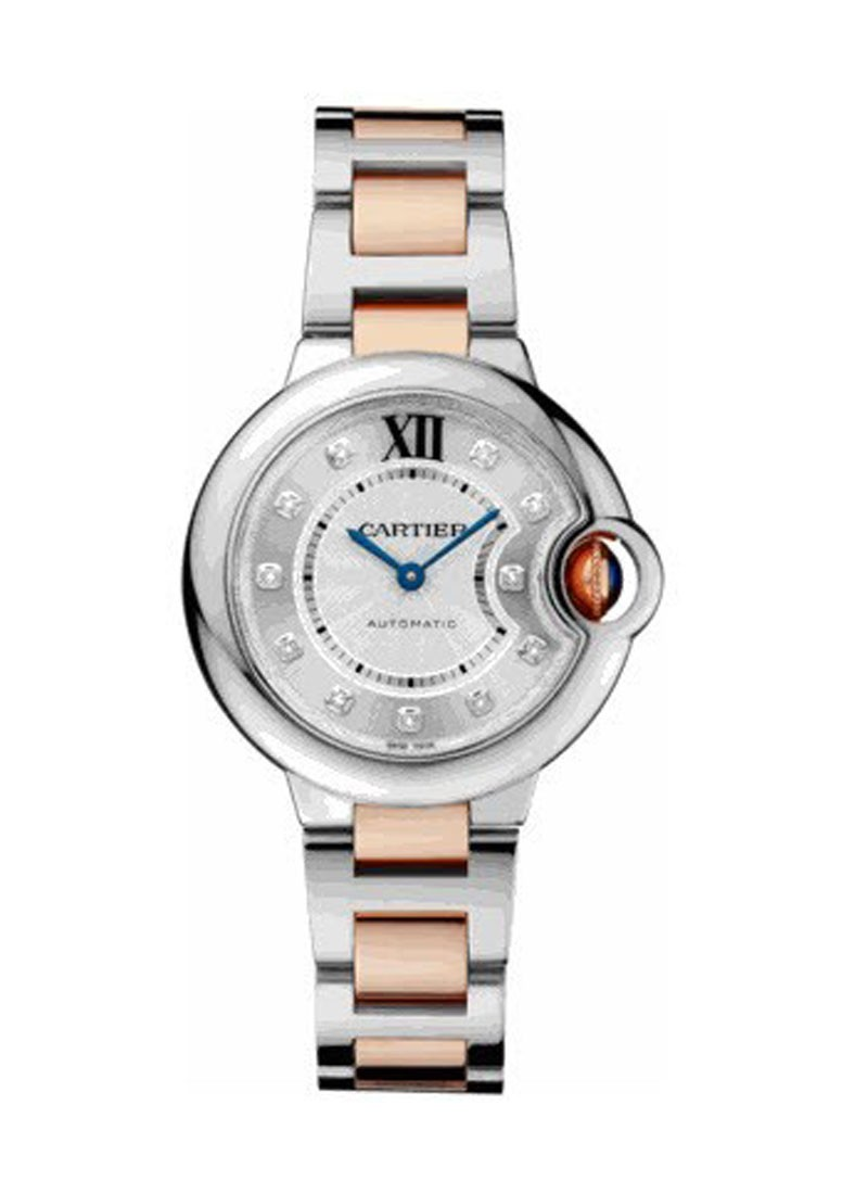 Cartier Ballon Bleu Ladies 33mm Automatic in 2 Tone
