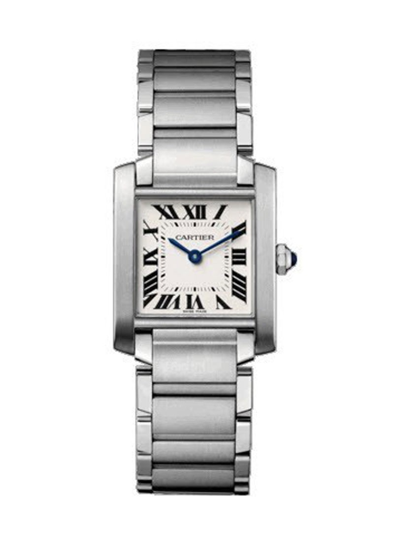 Cartier Tank Francaise Mens Large Quartz in Steel