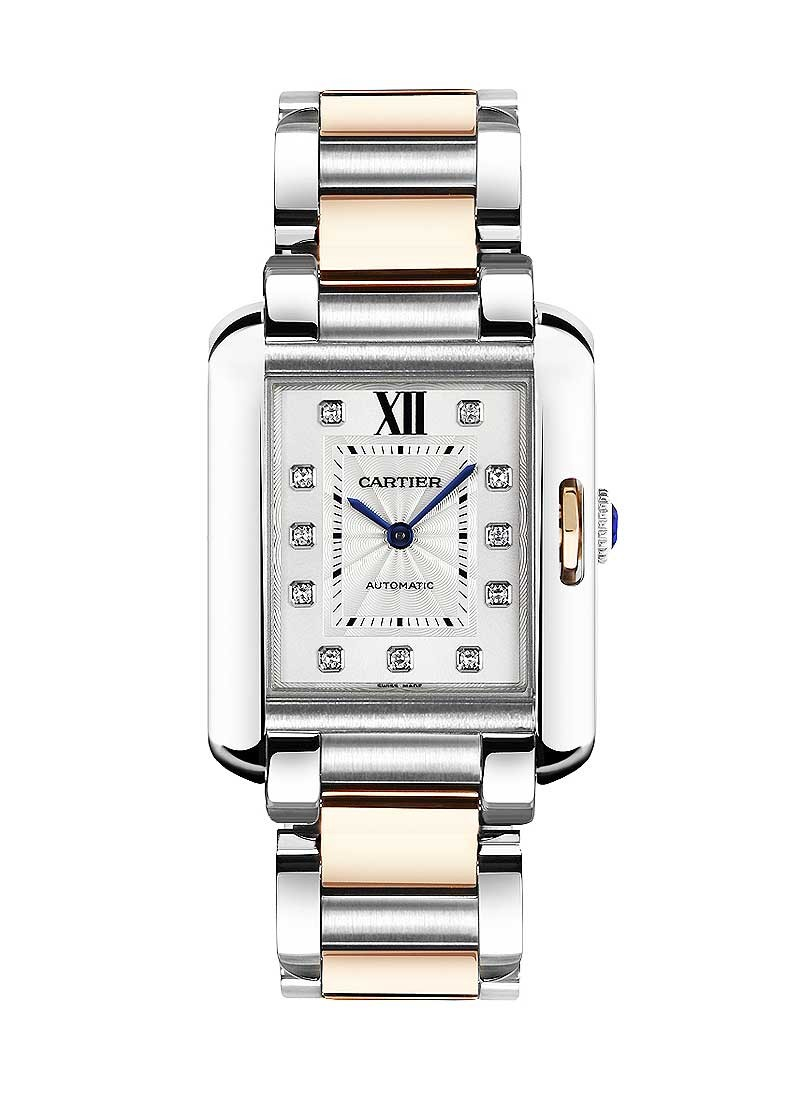 Cartier Tank Anglaise Mens Large Automatic in 2 Tone