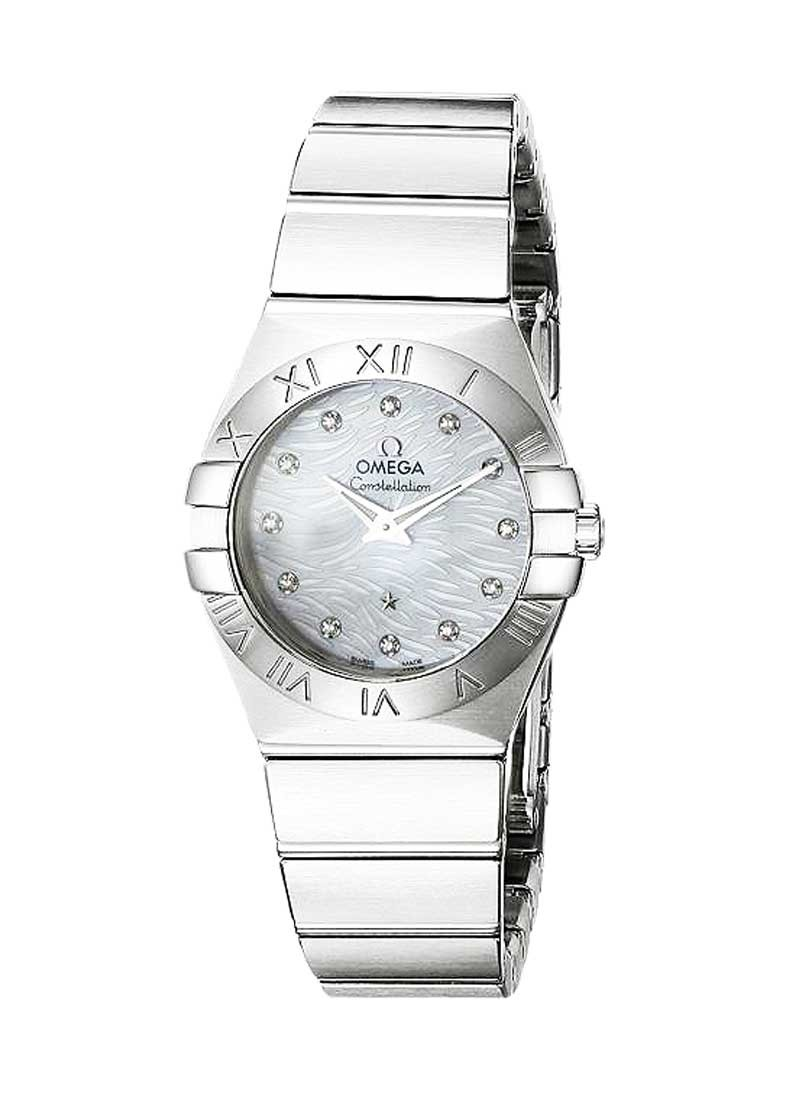 Omega Constellation Polished Quartz 27mm in Steel