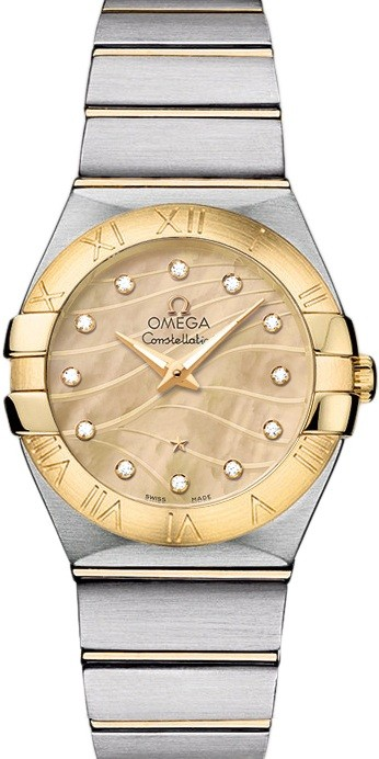 Omega Constellation 95 Ladies 27mm Quartz in 2 Tone