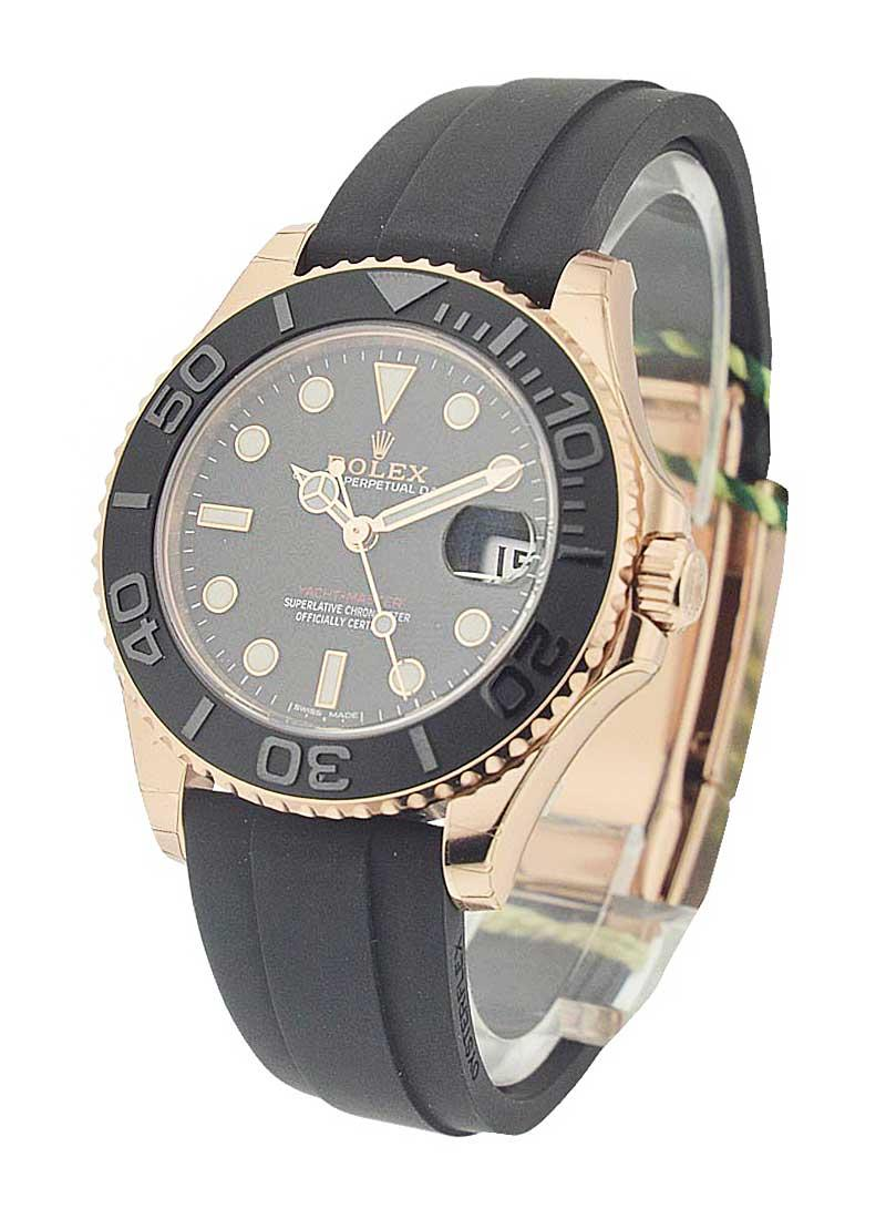 Rolex Unworn Yachtmaster in Rose Gold 37mm with Black Bezel