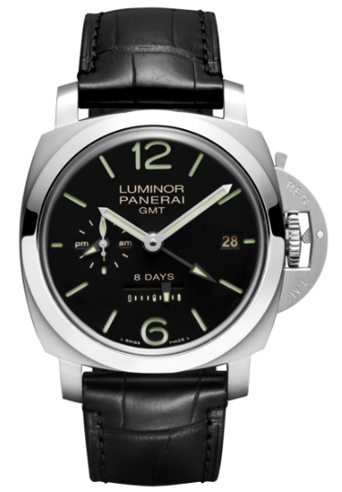 Panerai PAM 233   1950 GMT Iin Steel   AM PM Indicator Version