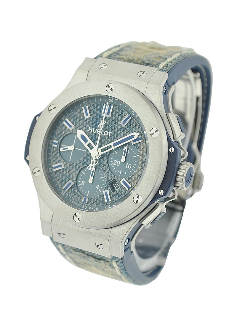 Hublot Bigbang Jeans Mens 44mm Automatic in Steel - LE 250 pcs.