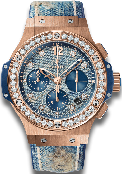 Hublot Big Bang Jeans in Rose Gold with Diamond Bezel - Limited Edition of 200 Pcs