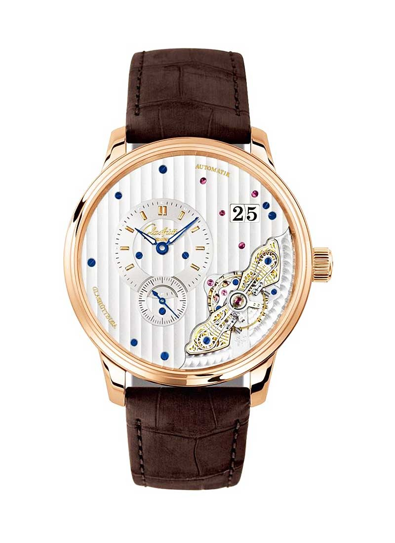 Glashutte PanomaticInverse 42mm Automatic in Rose Gold