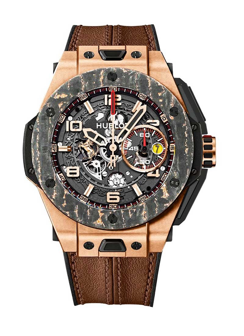 Hublot Ferrari Big Bang Carbon 45mm Automatic in Rose Gold with Carbon Fiber