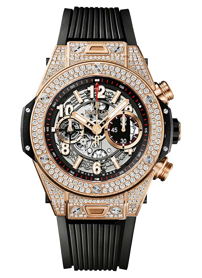Hublot Big Bang Unico 45mm in King Gold with Pave Diamond Bezel