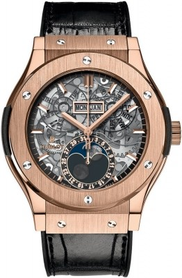 Hublot Classic Fusion Aerofusion Moonphase in Rose Gold