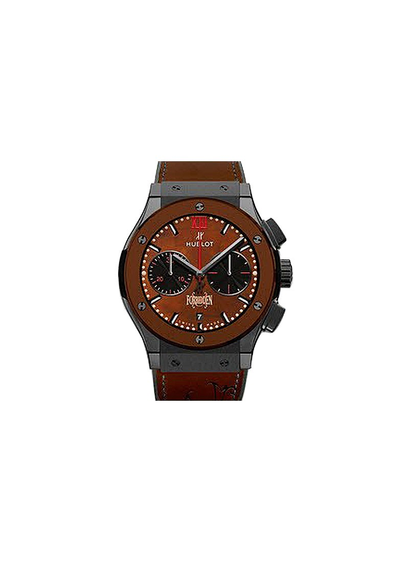 Hublot Classic Fusion Chronograph in Black Ceramic With Brown Ceramic Bezel