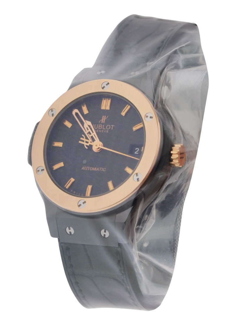 Hublot Classic Fusion 38mm Automatic in Ceramic   Rose Gold Bezel