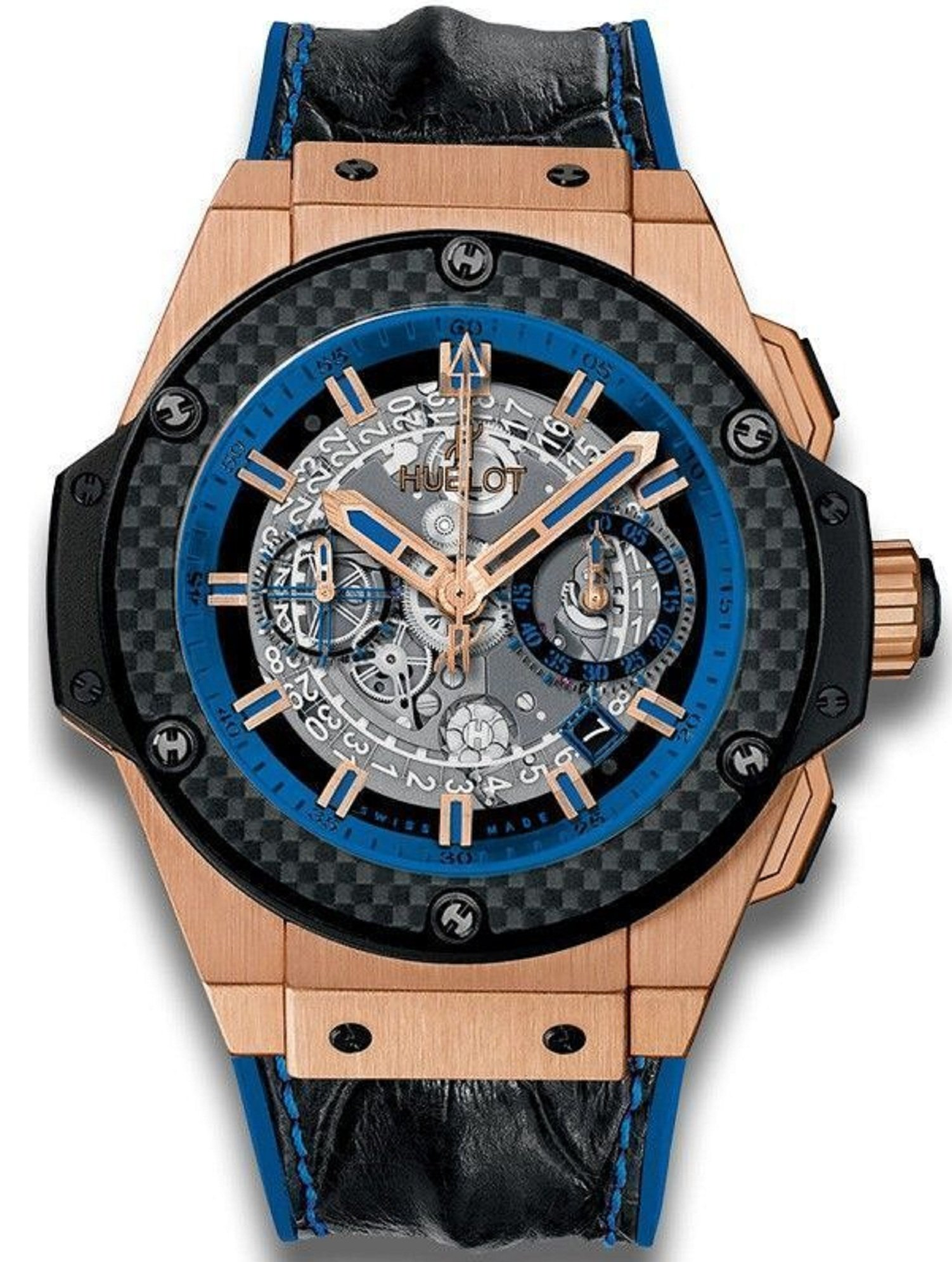 Hublot King Power Unico 48mm Automatic in Rose Gold with Carbon Fiber Bezel