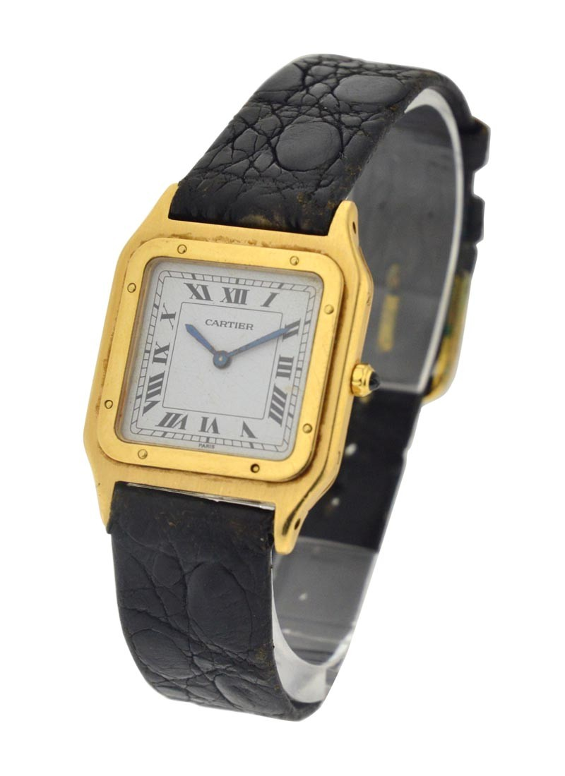 Cartier Santos Square in Yellow Gold