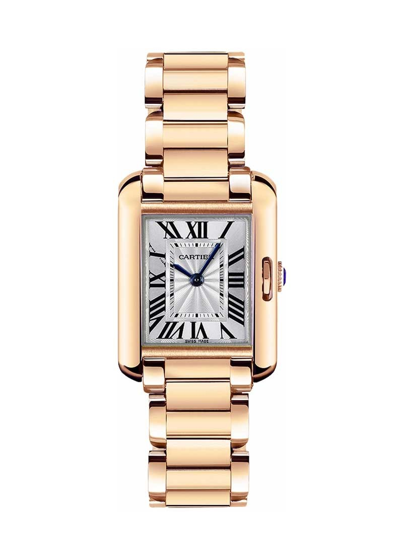 Cartier Tank Anglaise Ladies  34.7mm Quartz in Rose Gold