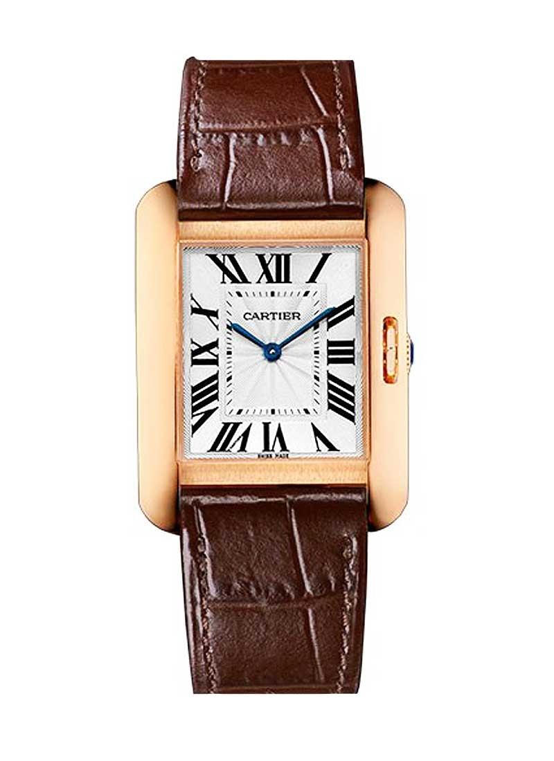 Cartier Tank Anglaise 34.7mm Quartz in Rose Gold
