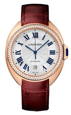 Cartier Cle de Cartier 40mm in Rose Gold with Diamond Bezel