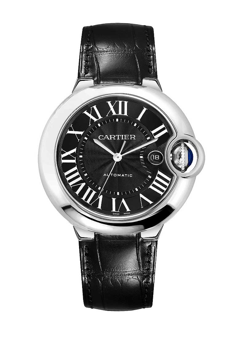 Cartier Ballon Bleu Mens 42mm Automatic in Steel
