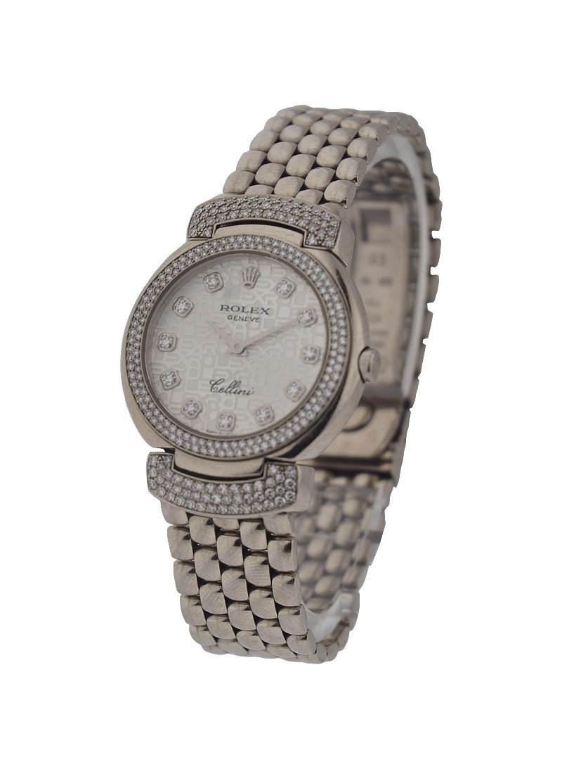 Rolex Unworn Ladies Cellisima with 2 Row Diamond Bezel and Lugs