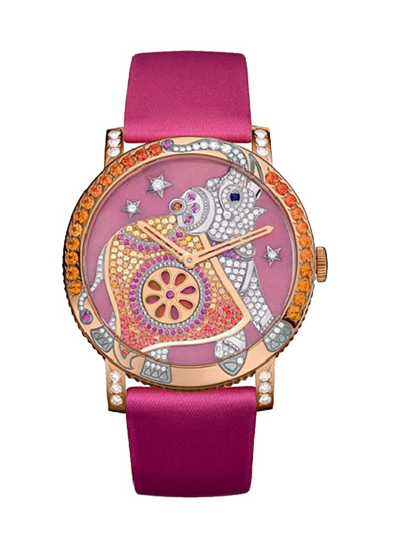 Boucheron Crazy Jungle Hathi in Rose Gold with Diamonds & Sapphires