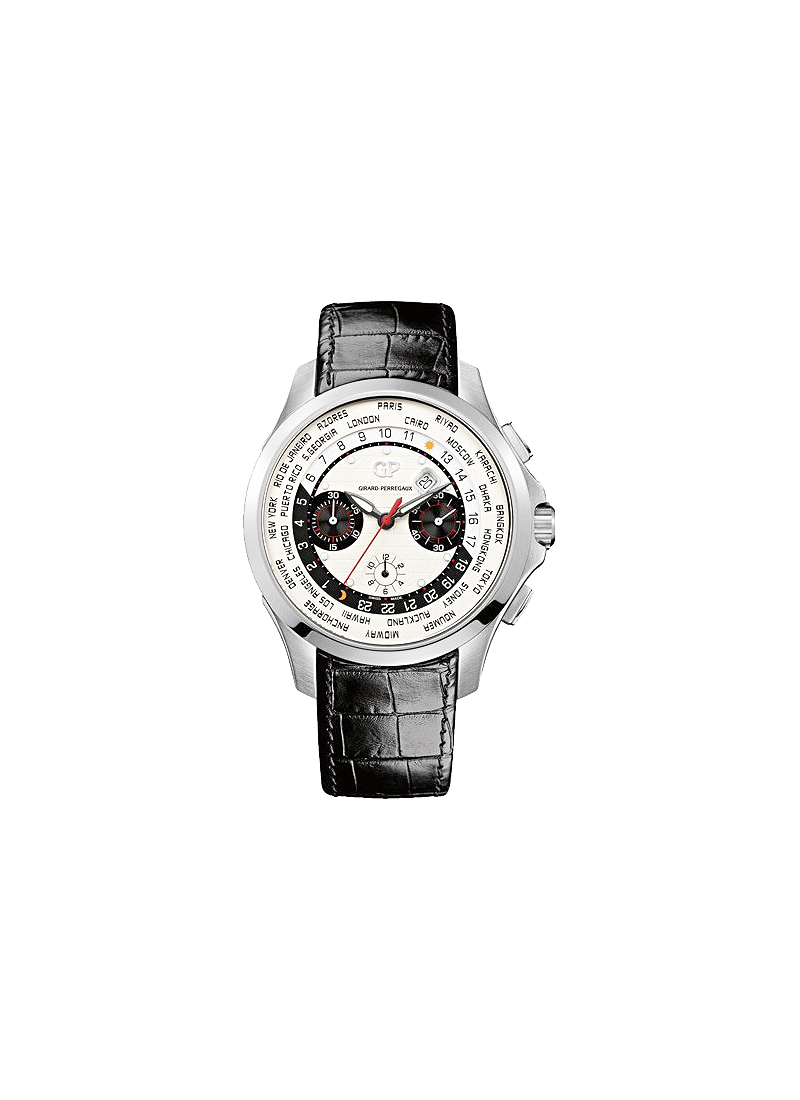Girard Perregaux World Time Chronograph Traveller  Automatic in Steel