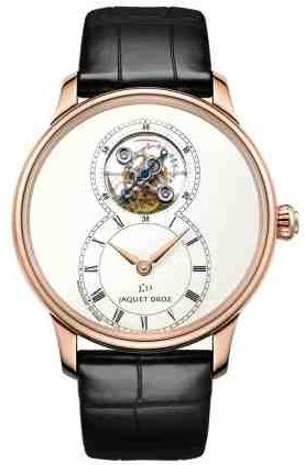 Jaquet Droz Grande Seconde Tourbillon Mens 39mm Automatic in Rose Gold