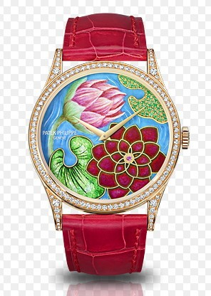 Patek Philippe Ladies Calatrava with Water Lilies and Lotus Flowers