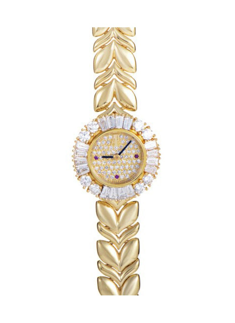 Audemars Piguet Ladies Diamond Watch in Yellow Gold with Diamonds