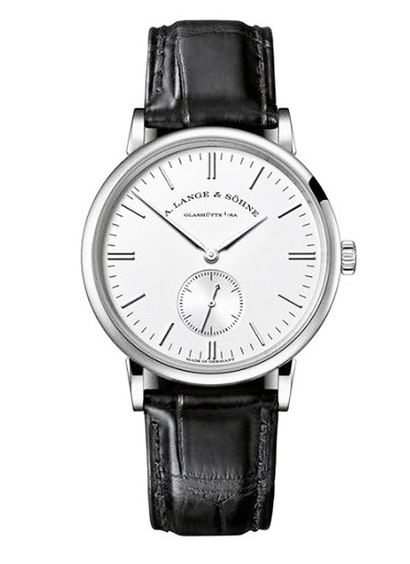 A. Lange & Sohne Saxonia Mens 35mm Manual in White Gold