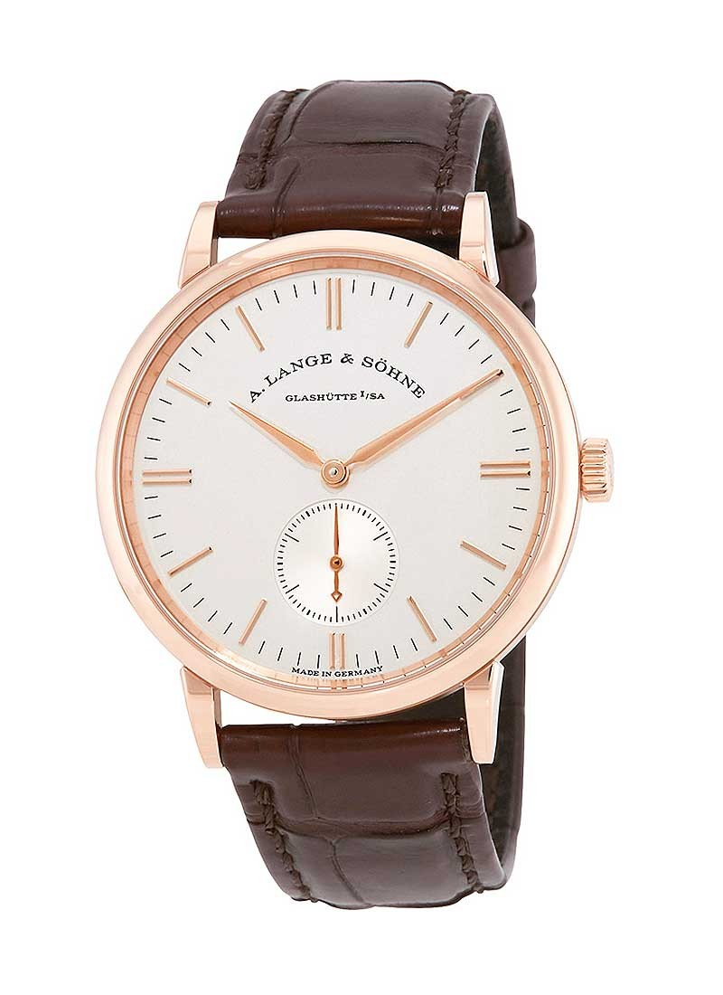 A. Lange & Sohne Saxonia Mens 35mm Manual in Rose Gold