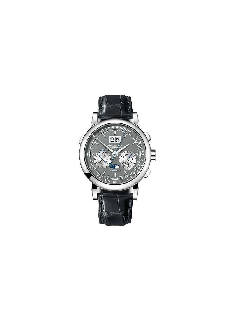 A. Lange & Sohne Datograph Perpetual Mens 41mm Manual in White Gold