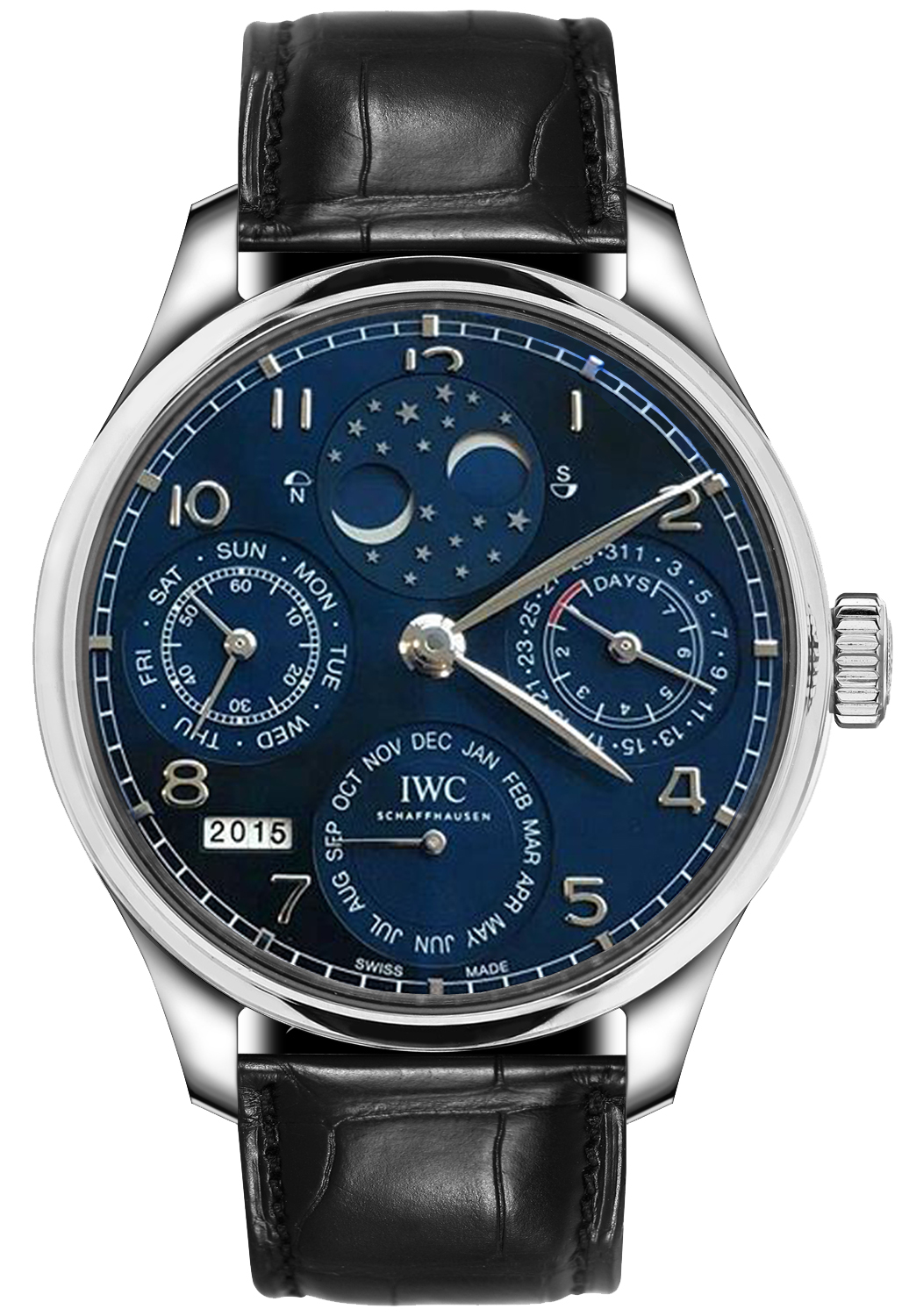 IWC Portugieser Perpetual Calendar Perpetual Double Moonphase 44.2mm  Automatic in White Gold