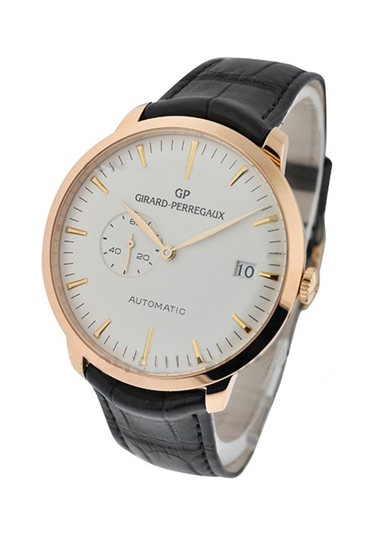 Girard Perregaux 1966 Hours Minutes Seconds Dates in Rose Gold