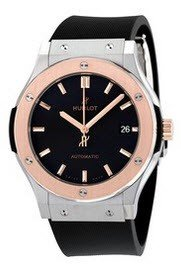 Hublot Classic Fusion Mens 45mm Automatic in Titanium   Rose Gold Bezel