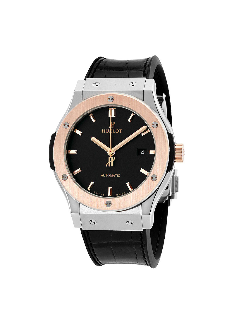 Hublot Classic Fusion 42mm Automatic in Titanium with Rose Gold Bezel