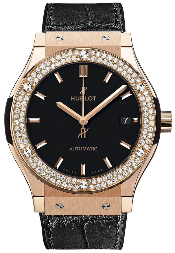 Hublot Classic Fusion 38mm Automatic in Rose Gold with Diamond Bezel