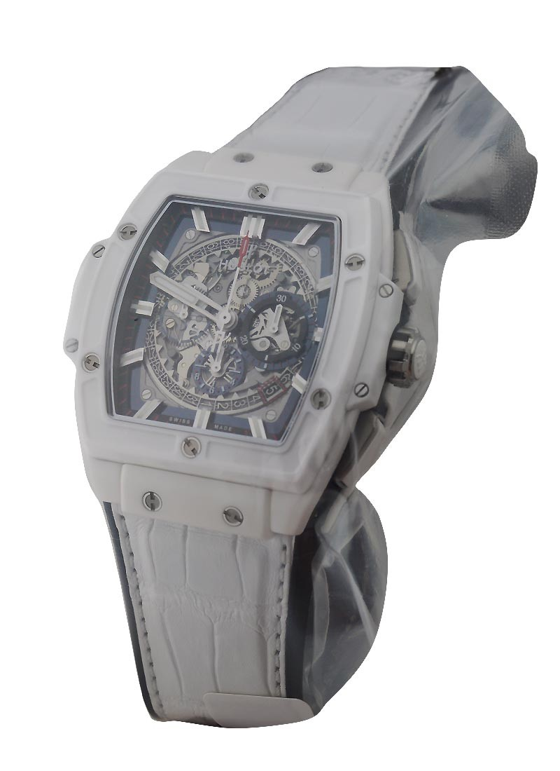 Hublot Spirit of Bang Chronograph  in White Ceramic