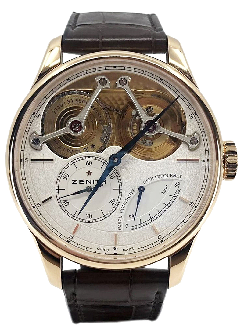 Zenith Academy Georges Favre-Jacot Mens 47mm Manual in Rose Gold