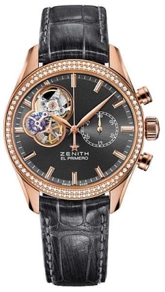 Zenith El Primero Chronomaster in Rose Gold with Diamond Bezel