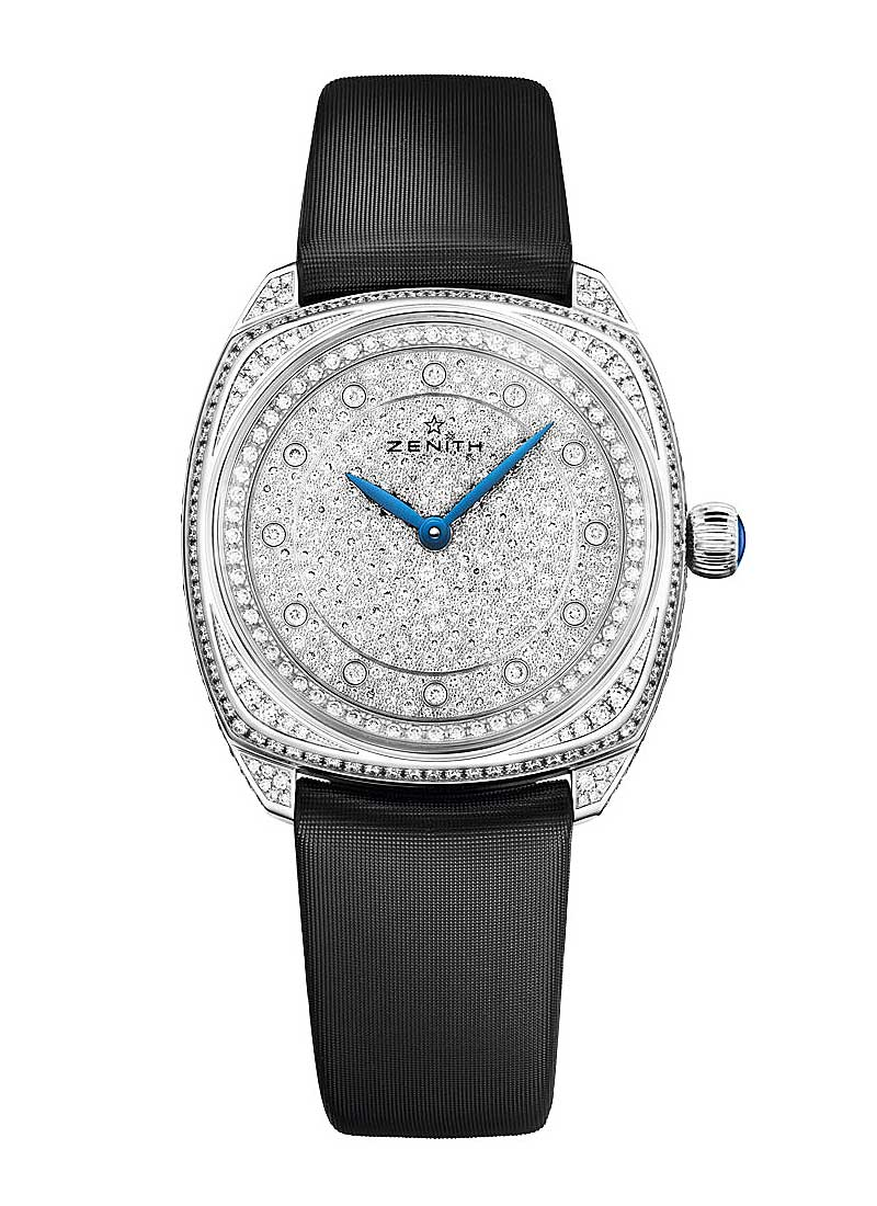 Zenith Star 33mm Ladies Atuomatic in White Gold with Diamond Bezel