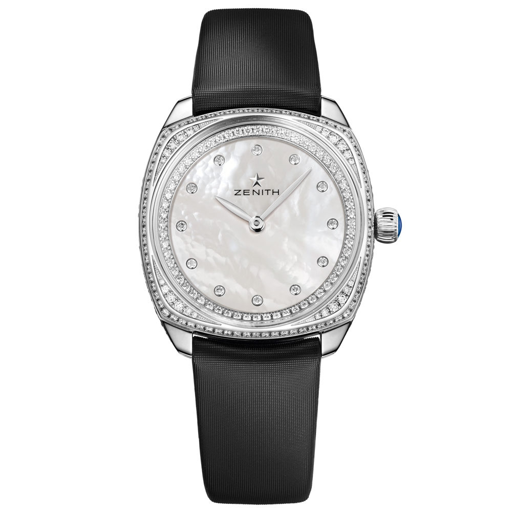 Zenith Star Ladies 33mm Automatic in White Gold with Diamond Bezel
