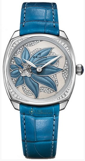 Zenith Star Ladies 33mm Automatic in White Gold with Diamonds