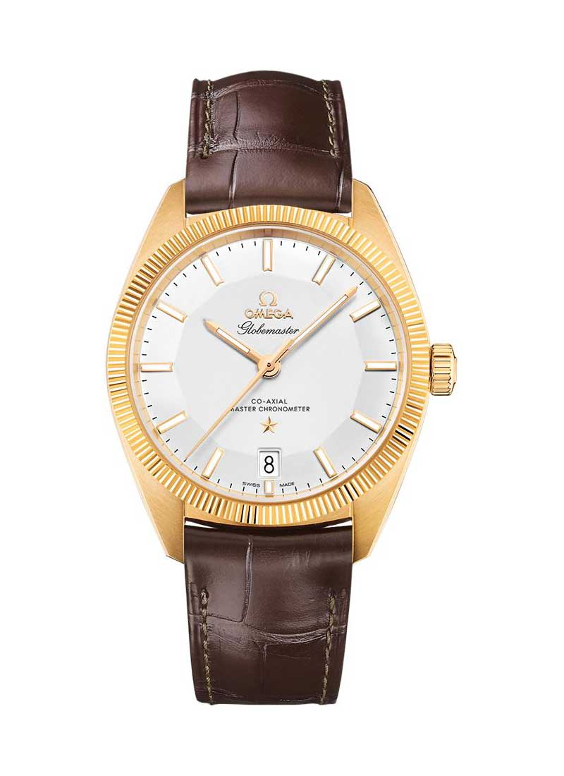 Omega Constellation Globelmaster Co-Axial Master Chronometer 39mm Automatic in Yellow Gold with Fluted Bez